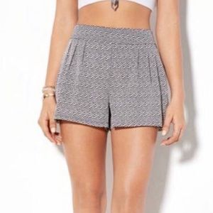 American Eagle Outfitters Chevron High Rise Shorts